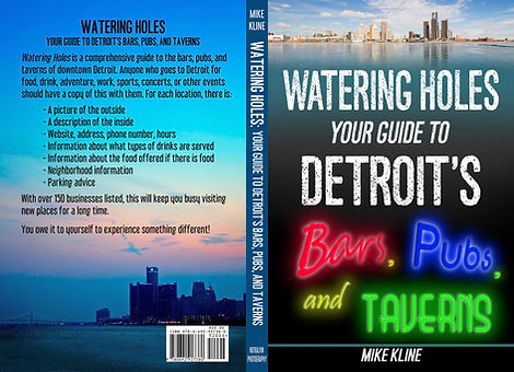 Watering Holes - Detroit cover - font and back