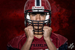 Nathan Rodgers - football helmet