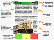 This shows how the bar pages have been designed, demonstrating the interactive design and the amount of details provided in Watering Holes Detroit.