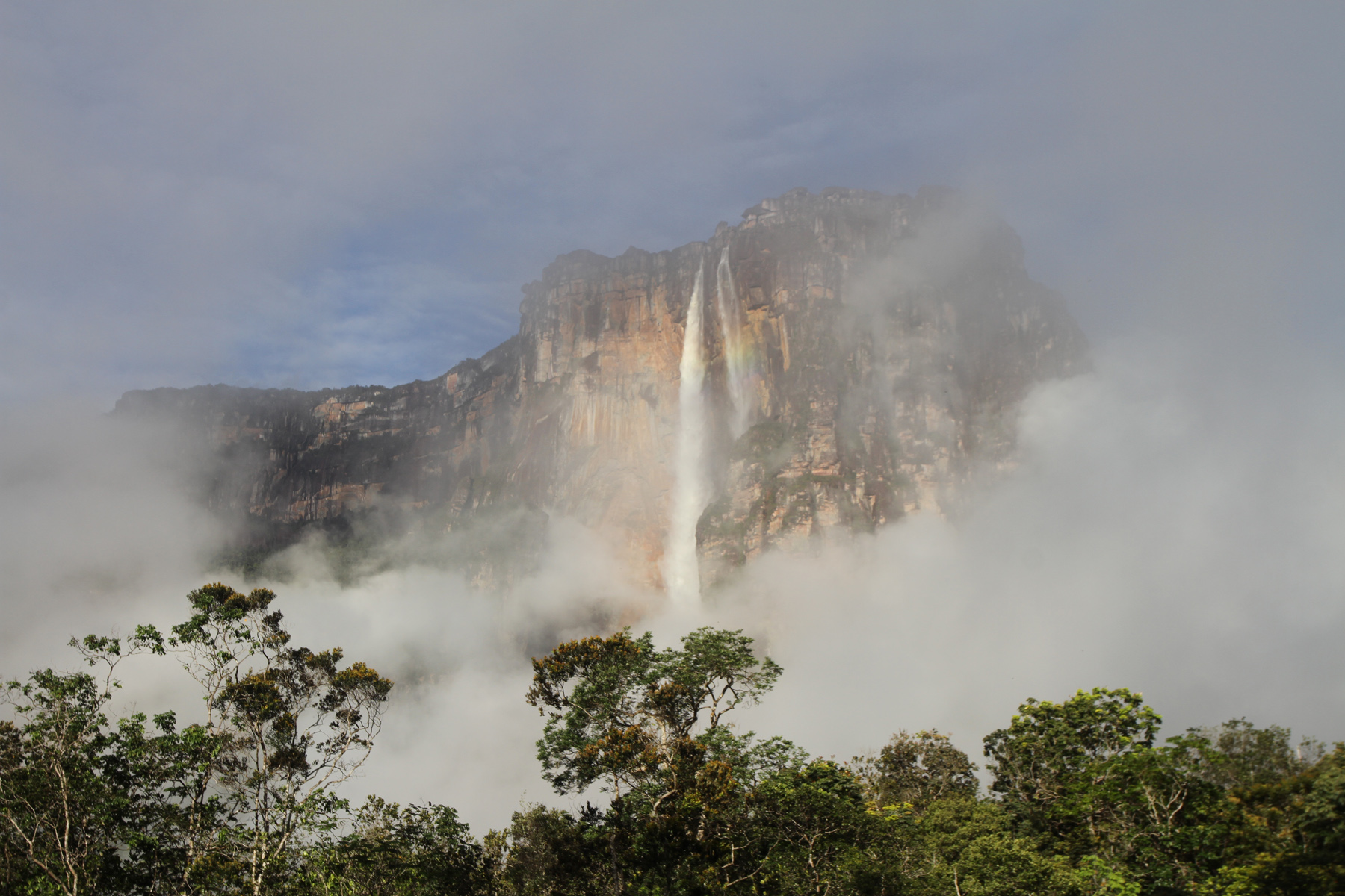 Angel Falls framed in clouds