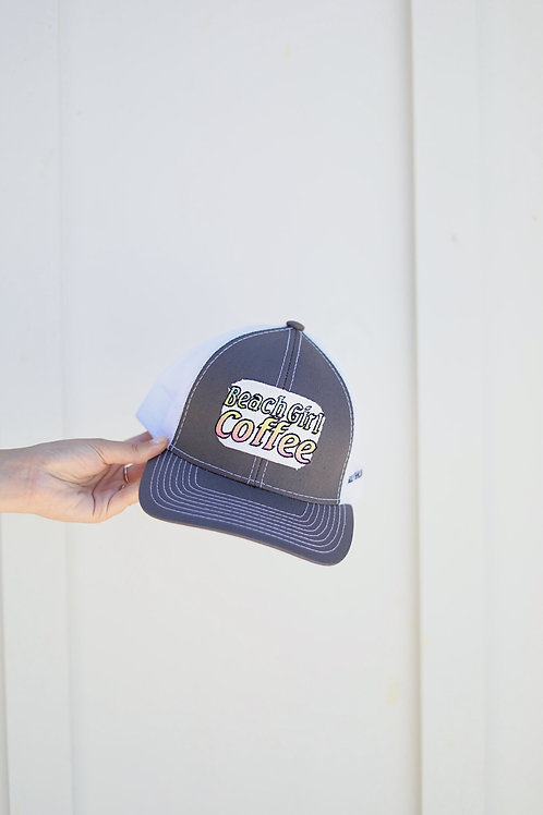 Beach Girl Coffee Hat (Grey)