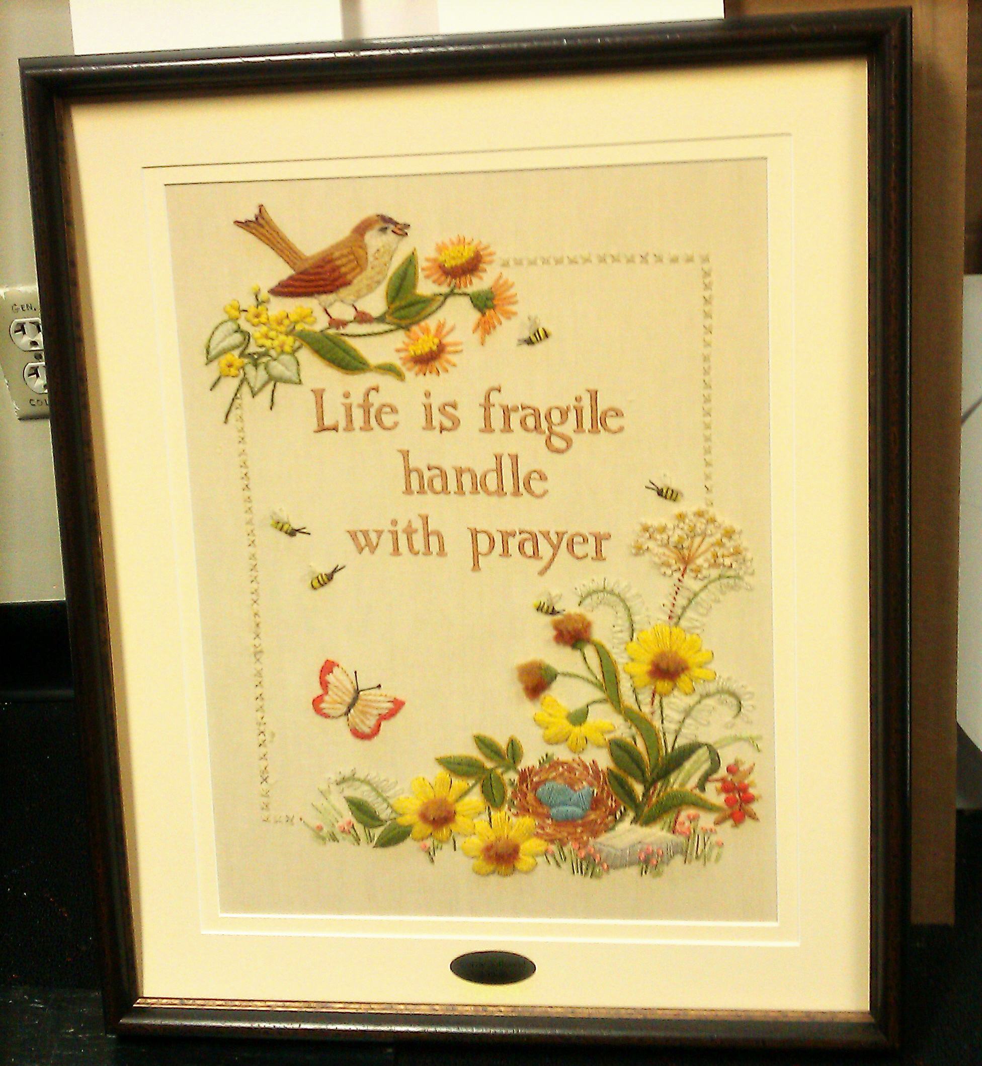 Custom frame Needlepoint