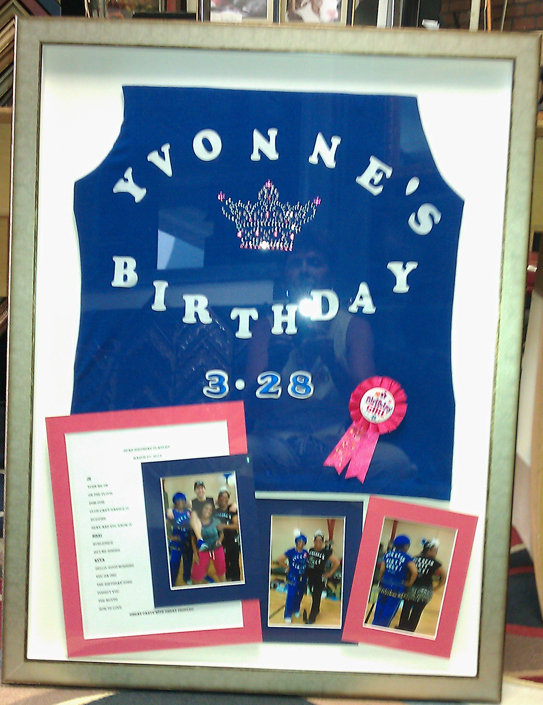 Custom Birthday Shadowbox