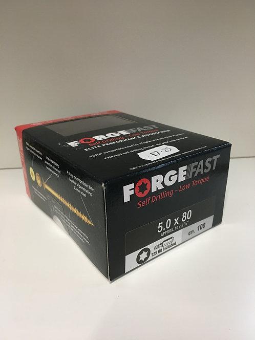 Forgefast 5.0 x 80mm Elite Performance Torx Woodscrews 100 Pack