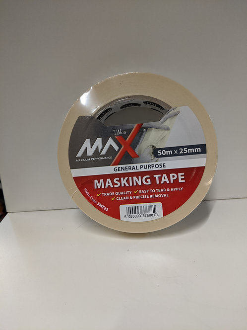 TIMco Maximum Performance Tape Masking Tape Cream 50m x 25mm