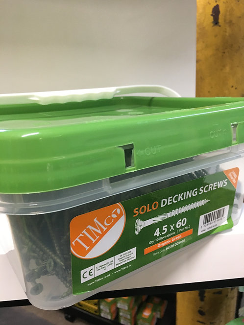 4.5 x 60 Solo Decking Screws - PZ - Double Countersunk - Exterior - Green