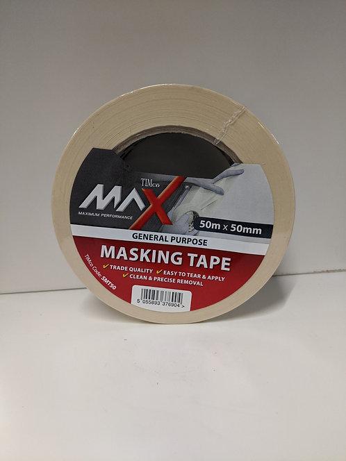 TIMco Maximum Performance Tape Masking Tape Cream 50m x 50mm