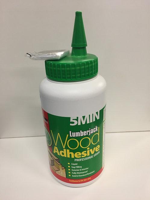 Lumberjack 5 Minute Polyurethane Wood Adhesive Liquid
