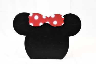 WOOD BACKDROP PROP MINNIE MOUSE WITH RED