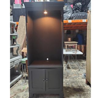 Cabinet With Lights and Bottom DoorsBLAC