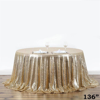 Sequin Tablecloth Champagne