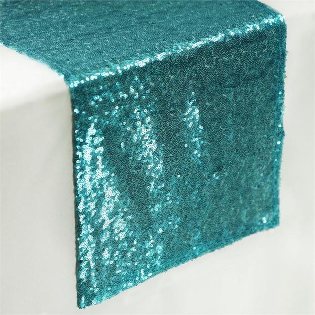 Sequin Runner Turquoise