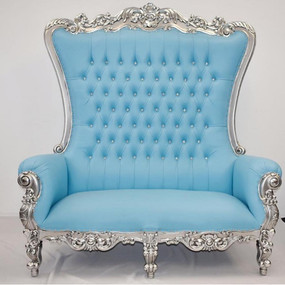 Double Throne Silver Baby Blue