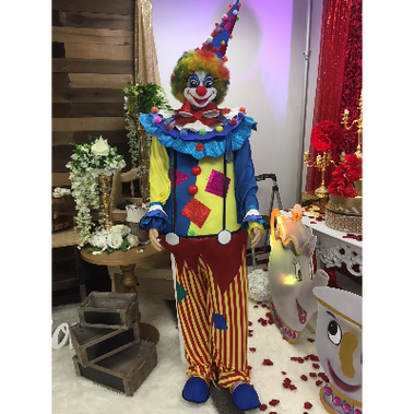 CIRCUS CLOWN MANNEQUIN 6FT TALL