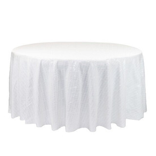 Sequin Tablecloth White