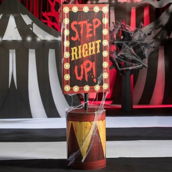 CIRCUS STEP RIGHT UP FLOOR SIGN