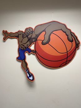 Basketball Jump Shot Backdrop Prop