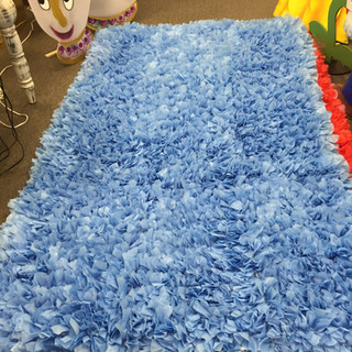 Dominican Rug 5x8 Baby Blue