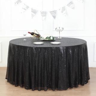 Sequin Tablecloth Black
