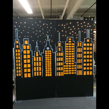 Gotham City Backdrop Wall