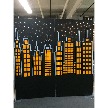 Gotham City Backdrop Wall