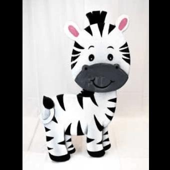 Baby Zebra 3D Floor Prop 4ft Tall