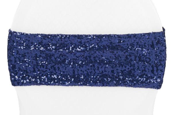 Navy Blue Sequin Sash