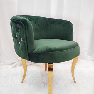Lounge Chair Forest Green Tufted with Rh