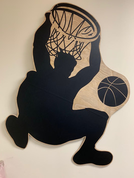 Basketball Slam Dunk Backdrop Prop