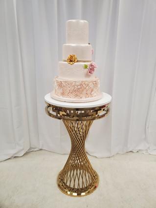 Swirl Cake Table Round Gold
