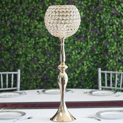 Goblet Crystal 30 inch Gold
