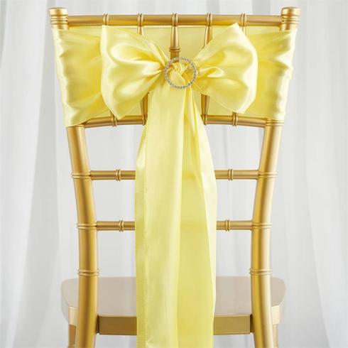 Yellow Satin Sash