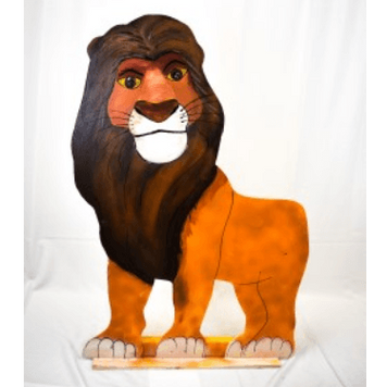 Lion King Simba Wood Cut Out 3ft Tall