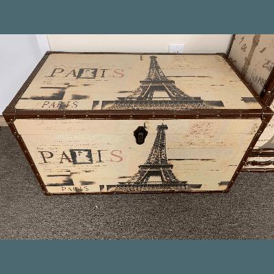 Vintage Trunk Paris Themed Large 19tX35w