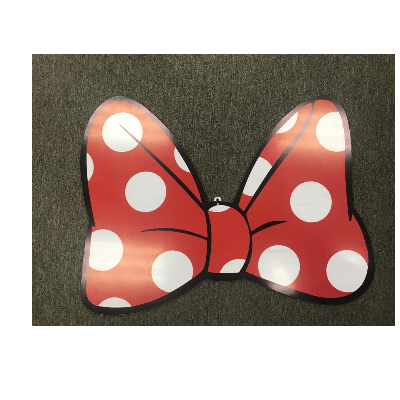 MINNIE MOUSE POLKA DOT BOW BACKDROP PROP