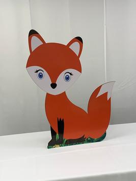 Fox Wooden Standup Prop