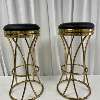 COCKTAIL CHAIR GOLD BLACK