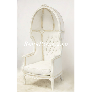 White White Canopy Throne $450
