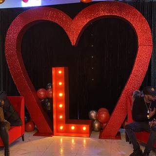 Red Sequin Heart