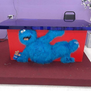 Cookie Monster Dessert Table