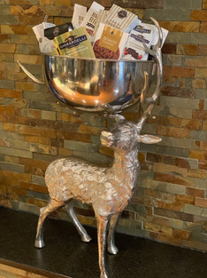 Winter Standing Silver Reindeer Bowl
