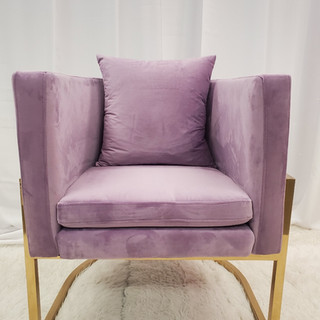 Lounge Chair Baby Lavender Gold Frame