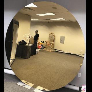 Acrylic Round Wall Mirror Gold