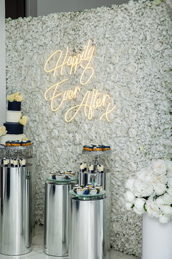 Flower Wall Square White Roses and White Hydrangeas