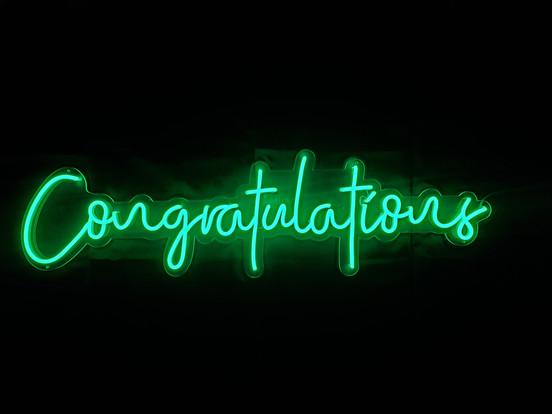 Neon Congratulations