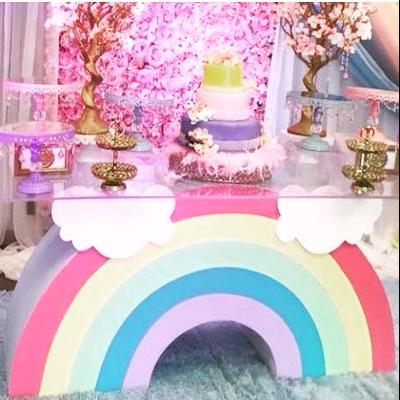 Rainbow Dessert Table