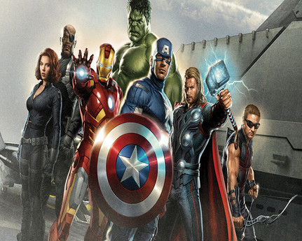 Vinyl Backdrop Avengers *x8