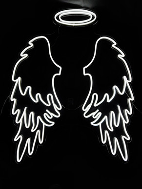 Neon Angel Wings