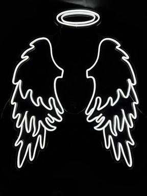 Neon Angel Wings