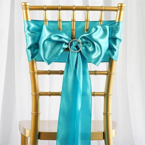 Turquoise Satin Sash